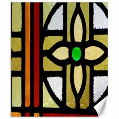 A Detail Of A Stained Glass Window Canvas 20  X 24   by Amaryn4rt