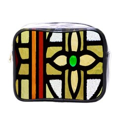 A Detail Of A Stained Glass Window Mini Toiletries Bags by Amaryn4rt