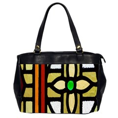 A Detail Of A Stained Glass Window Office Handbags (2 Sides)  by Amaryn4rt