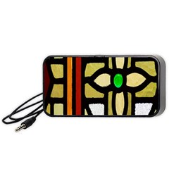 A Detail Of A Stained Glass Window Portable Speaker (black) by Amaryn4rt