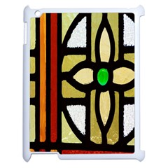A Detail Of A Stained Glass Window Apple Ipad 2 Case (white) by Amaryn4rt
