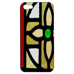 A Detail Of A Stained Glass Window Apple Iphone 5 Hardshell Case by Amaryn4rt