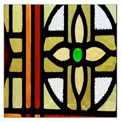A Detail Of A Stained Glass Window Large Satin Scarf (square) by Amaryn4rt