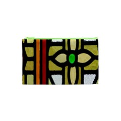 A Detail Of A Stained Glass Window Cosmetic Bag (xs) by Amaryn4rt