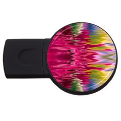 Abstract Pink Colorful Water Background Usb Flash Drive Round (4 Gb) by Amaryn4rt