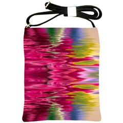 Abstract Pink Colorful Water Background Shoulder Sling Bags by Amaryn4rt