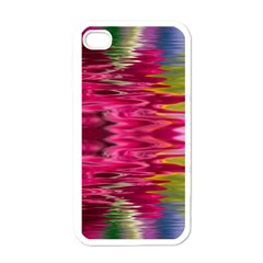 Abstract Pink Colorful Water Background Apple Iphone 4 Case (white) by Amaryn4rt