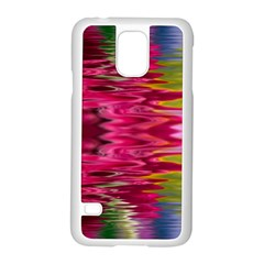 Abstract Pink Colorful Water Background Samsung Galaxy S5 Case (white) by Amaryn4rt