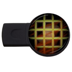Drawing Of A Color Fractal Window Usb Flash Drive Round (4 Gb) by Amaryn4rt