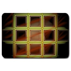 Drawing Of A Color Fractal Window Large Doormat  by Amaryn4rt
