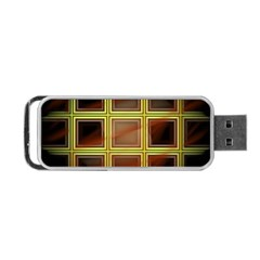 Drawing Of A Color Fractal Window Portable Usb Flash (one Side) by Amaryn4rt