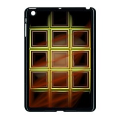 Drawing Of A Color Fractal Window Apple Ipad Mini Case (black) by Amaryn4rt