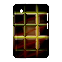 Drawing Of A Color Fractal Window Samsung Galaxy Tab 2 (7 ) P3100 Hardshell Case  by Amaryn4rt
