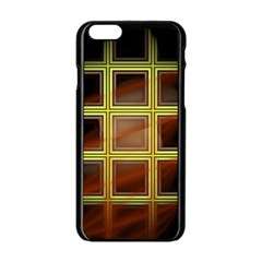 Drawing Of A Color Fractal Window Apple Iphone 6/6s Black Enamel Case by Amaryn4rt