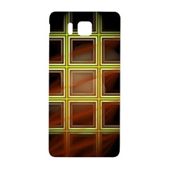 Drawing Of A Color Fractal Window Samsung Galaxy Alpha Hardshell Back Case by Amaryn4rt