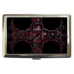 Fractal Red Cross On Black Background Cigarette Money Cases by Amaryn4rt