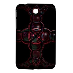 Fractal Red Cross On Black Background Samsung Galaxy Tab 3 (7 ) P3200 Hardshell Case  by Amaryn4rt