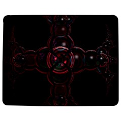 Fractal Red Cross On Black Background Jigsaw Puzzle Photo Stand (rectangular) by Amaryn4rt