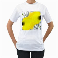 Fractal Abstract Background Women s T Shirt (white) (two Sided) by Amaryn4rt