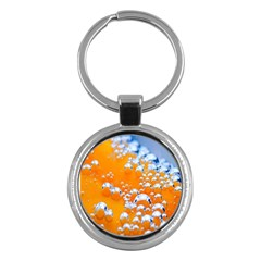 Bubbles Background Key Chains (round)  by Amaryn4rt