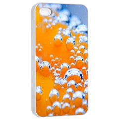 Bubbles Background Apple Iphone 4/4s Seamless Case (white) by Amaryn4rt