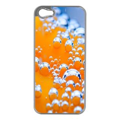 Bubbles Background Apple Iphone 5 Case (silver) by Amaryn4rt