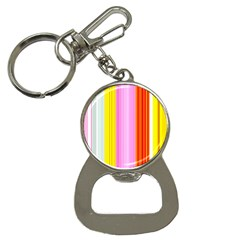 Multi Colored Bright Stripes Striped Background Wallpaper Button Necklaces by Amaryn4rt