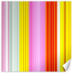 Multi Colored Bright Stripes Striped Background Wallpaper Canvas 20  X 20   by Amaryn4rt