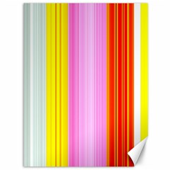 Multi Colored Bright Stripes Striped Background Wallpaper Canvas 36  X 48   by Amaryn4rt
