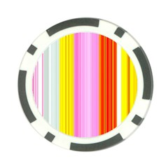 Multi Colored Bright Stripes Striped Background Wallpaper Poker Chip Card Guard by Amaryn4rt