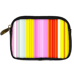 Multi Colored Bright Stripes Striped Background Wallpaper Digital Camera Cases by Amaryn4rt