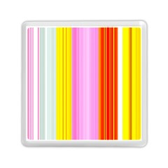 Multi Colored Bright Stripes Striped Background Wallpaper Memory Card Reader (square)  by Amaryn4rt