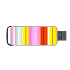 Multi Colored Bright Stripes Striped Background Wallpaper Portable Usb Flash (two Sides) by Amaryn4rt