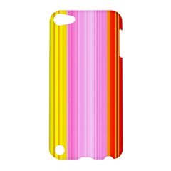 Multi Colored Bright Stripes Striped Background Wallpaper Apple Ipod Touch 5 Hardshell Case by Amaryn4rt