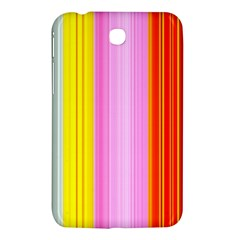 Multi Colored Bright Stripes Striped Background Wallpaper Samsung Galaxy Tab 3 (7 ) P3200 Hardshell Case  by Amaryn4rt
