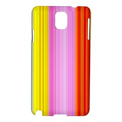 Multi Colored Bright Stripes Striped Background Wallpaper Samsung Galaxy Note 3 N9005 Hardshell Case by Amaryn4rt