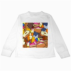 Sweet Stuff Digitally Created Sweet Food Wallpaper Kids Long Sleeve T Shirts by Amaryn4rt