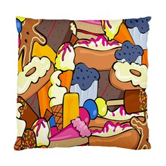 Sweet Stuff Digitally Created Sweet Food Wallpaper Standard Cushion Case (two Sides) by Amaryn4rt