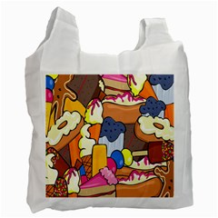 Sweet Stuff Digitally Created Sweet Food Wallpaper Recycle Bag (one Side) by Amaryn4rt