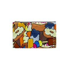 Sweet Stuff Digitally Created Sweet Food Wallpaper Cosmetic Bag (small)  by Amaryn4rt
