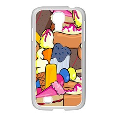 Sweet Stuff Digitally Created Sweet Food Wallpaper Samsung Galaxy S4 I9500/ I9505 Case (white) by Amaryn4rt