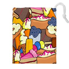 Sweet Stuff Digitally Created Sweet Food Wallpaper Drawstring Pouches (xxl) by Amaryn4rt