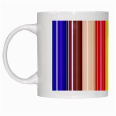Colorful Striped Background Wallpaper Pattern White Mugs