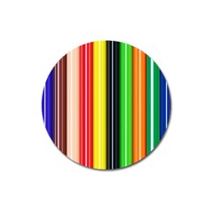 Colorful Striped Background Wallpaper Pattern Magnet 3  (round) by Amaryn4rt