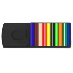 Colorful Striped Background Wallpaper Pattern Usb Flash Drive Rectangular (4 Gb) by Amaryn4rt