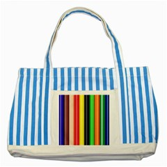 Colorful Striped Background Wallpaper Pattern Striped Blue Tote Bag by Amaryn4rt