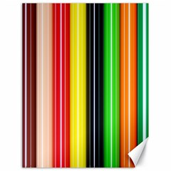Colorful Striped Background Wallpaper Pattern Canvas 18  X 24   by Amaryn4rt