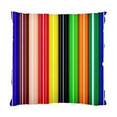 Colorful Striped Background Wallpaper Pattern Standard Cushion Case (one Side) by Amaryn4rt