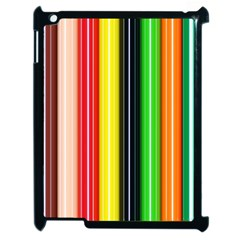 Colorful Striped Background Wallpaper Pattern Apple Ipad 2 Case (black) by Amaryn4rt