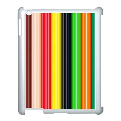Colorful Striped Background Wallpaper Pattern Apple Ipad 3/4 Case (white) by Amaryn4rt
